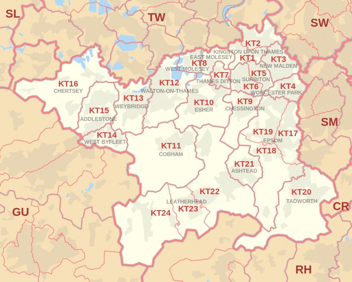 Kingston Upon Thames Map