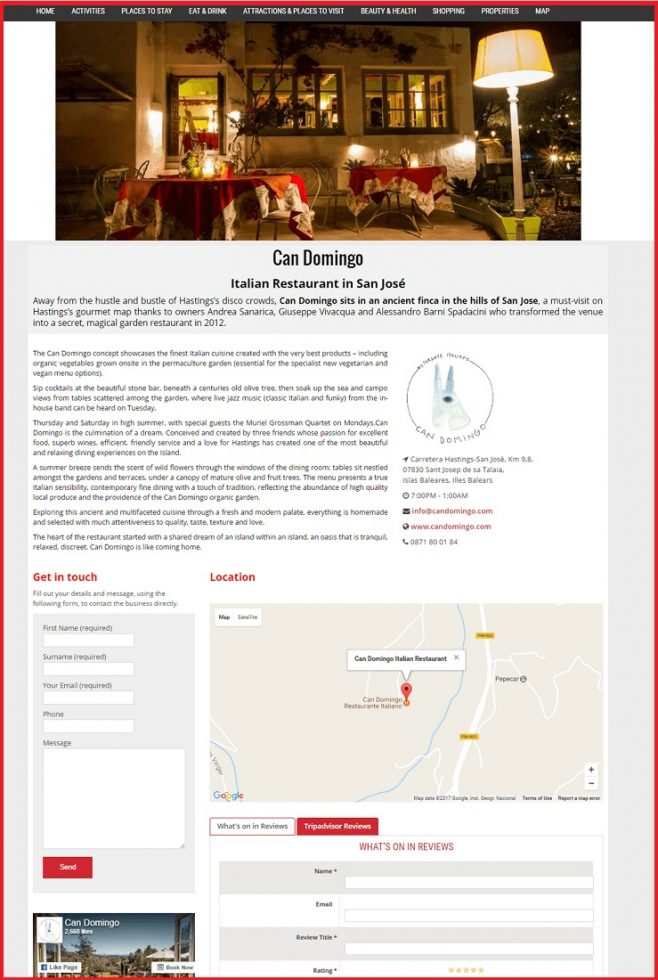 Sales Page Example when Advertise with us What's on in Kingston upon Thames.com